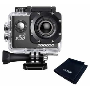 SOOCOO アクションカメラ S100pro 4K 超高画質 2000万画素 2インチ タッチパネル 音声コントロール GPS 170度広角 30m防水 wifi搭載 手ブ