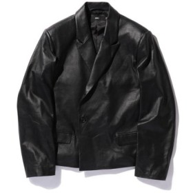 (BEAMS MEN/ビームス メン)VAPORIZE/Leather 1B Jacket/メンズ BLACK 送料無料