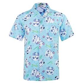 APTRO - カジュアルシャツ - メンズ - ブルー - XXXL