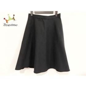 ニジュウサンク 23区 スカート サイズ44 L レディース 美品 ネイビー×黒 リバーシブル 新着 20190913