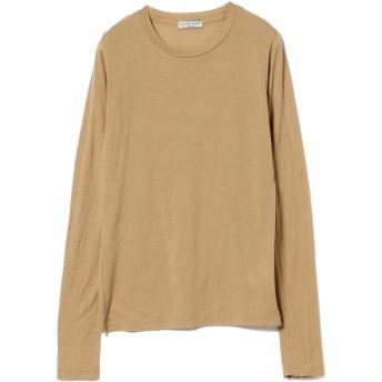 (レイビームス)Ray BEAMS/Tシャツ High Basic スクープネック ロングスリーブ Tシャツ レディース CAMEL ONE SIZE