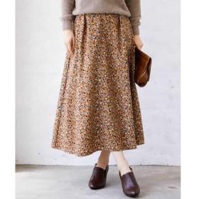 MK MICHEL KLEIN / エムケーミッシェルクラン 【洗濯機で洗える】フラワー幾何柄スカート