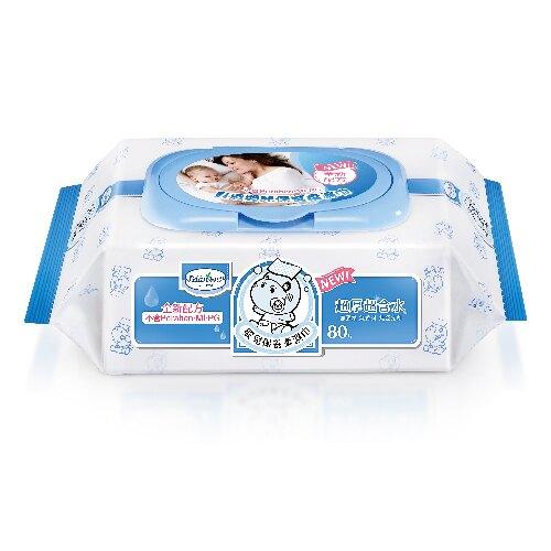 貝恩 Baan NEW嬰兒保養柔濕巾-80抽(乙包) 無香料【紫貝殼】