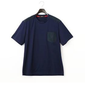 【COMME CA MEN:トップス】スウェード使いTシャツ