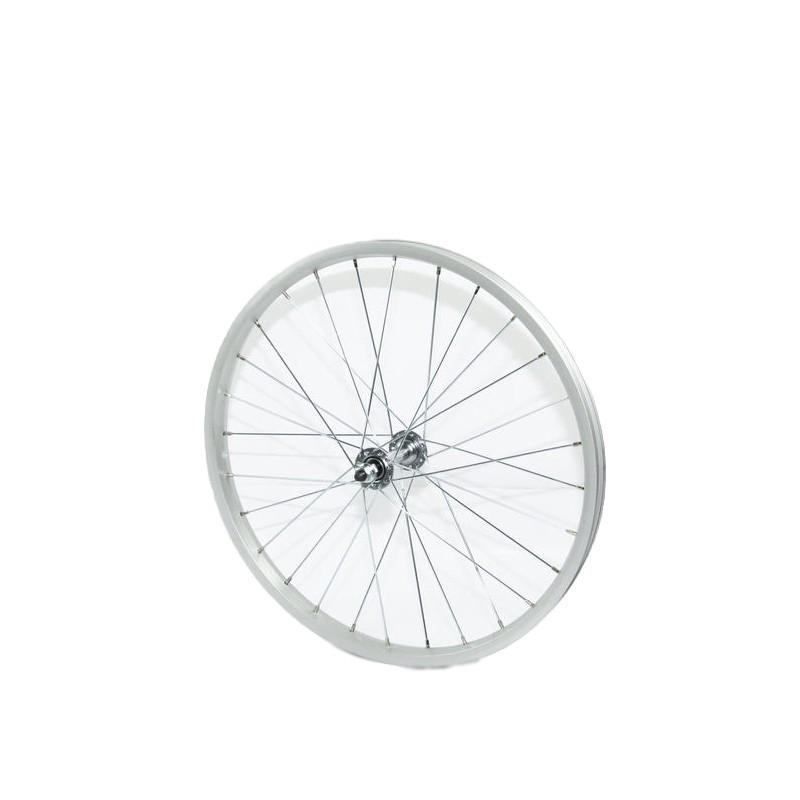 20吋登山車前輪輪組(406)-鋁合金輪圈+冷鍛花鼓 [05201508]【飛輪單車】