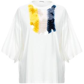 《セール開催中》JIL SANDER レディース T シャツ ホワイト L コットン 100% / ポリエステル / 陶製