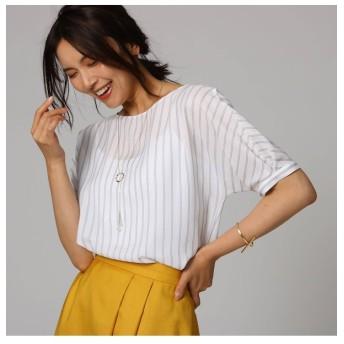 【アンタイトル/UNTITLED】 [L]クルーズストライプシャツ