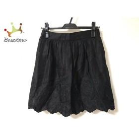 ボディドレッシングデラックス スカート サイズ36 S レディース 美品 黒 刺繍 新着 20190913