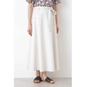 【ヒューマンウーマン/HUMAN WOMAN】 コットントップODツイルフレアスカート