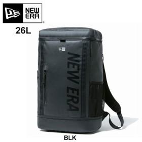 ニューエラ リュックサック バックパック メンズ new era BOX BAG TARPAULIN LOGO 26L 12108789  ボックスパック プリントロゴ ターポリン 黒  [0820]