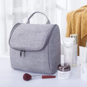 洗面バッグ、袋-飯粒海外旅行化粧バッグ多機能ホテルの浴室掛式洗面カバンの大容量の水かけ防止バッグです。, 灰色