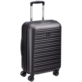 Delsey Paris Segur 2.0スーツケース、55 cm、36.2リットル、ブラック