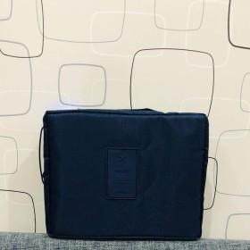旅行収納バッグオックスフォード布防水洗面バッグ大容量旅行収納バッグ携帯女性多機能, 濃紺