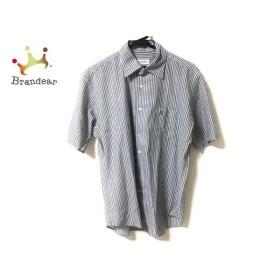 ランバンコレクション 半袖シャツ サイズM メンズ 美品 白×ダークグレー×ライトグリーン   スペシャル特価 20191216