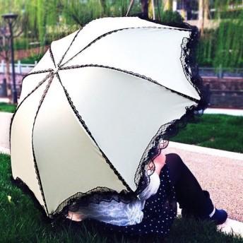 日傘 折りたたみ傘 レディース 晴雨兼用 完全遮光 UVカット 紫外線カット アンブレラ かわいい 花柄-P115