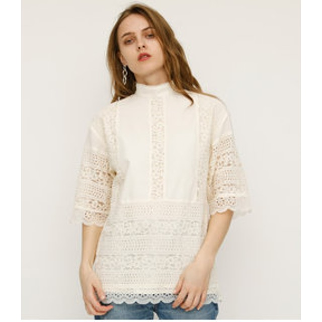 【SLY:ワンピース】LACE STAND TUNIC