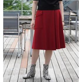 【トゥモローランド/TOMORROWLAND】 ウールメルトンジャージー アシンメトリースカート
