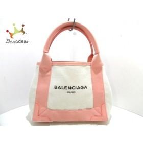 バレンシアガ BALENCIAGA トートバッグ 新品同様 ネイビーカバXS 390346 アイボリー×ピンク  値下げ 20190915