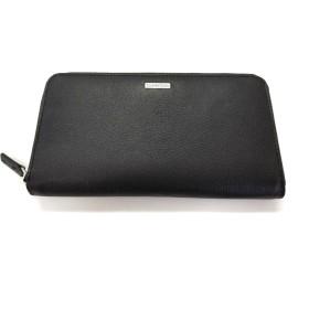 [カルバンクライン] Calvin Klein メンズ レザー ラウンドファスナー 長財布 (ブラック) [並行輸入品]