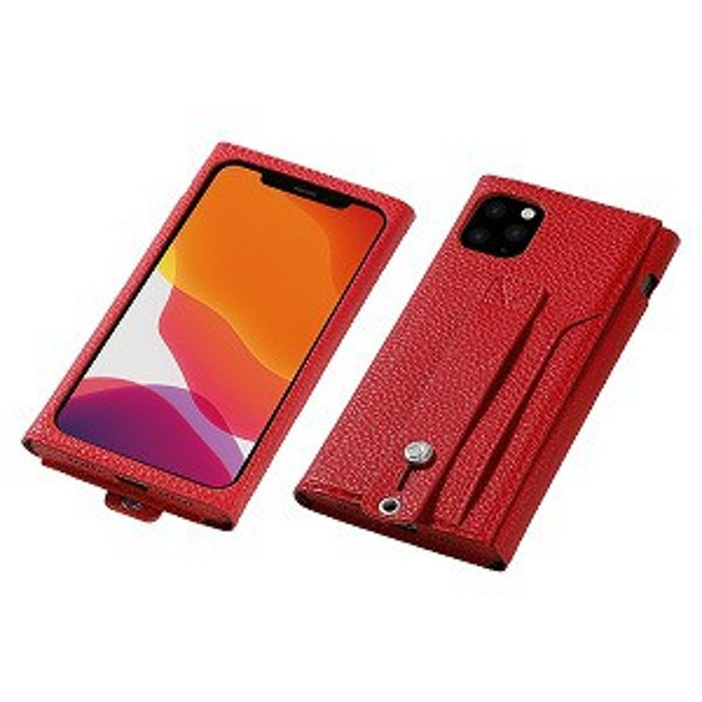 RME iPhone 11 Pro用 高級PUレザーケース<Clings> レッド DCS-IPC19SPURD