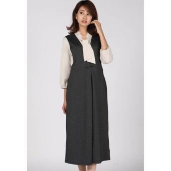 Ketty Cherie / へリンボンポンチジャンパースカート