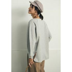 MAYSON GREY 裏毛袖リングボタンプルオーバー Tシャツ・カットソー,ライトグレー