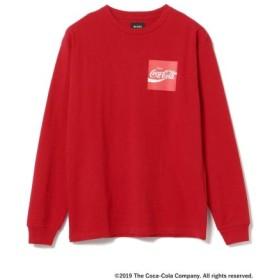 (BEAMS MEN/ビームス メン)Coca Cola by BEAMS/Have a Coke ロングスリーブ Tシャツ/メンズ RED