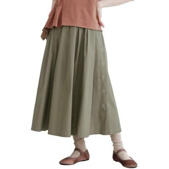 (メルロー) merlot サイドスナップボタンスカート モカ