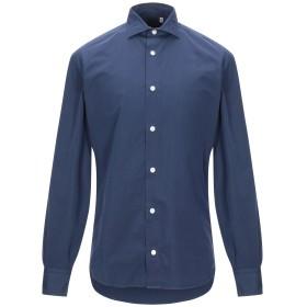 《期間限定セール開催中!》ELEVENTY メンズ シャツ ダークブルー 39 コットン 100%