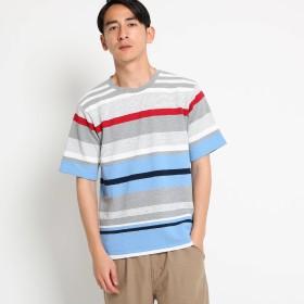Dessin(Men)(デッサン:メンズ)/【洗える】ブロックインレイ Tシャツ