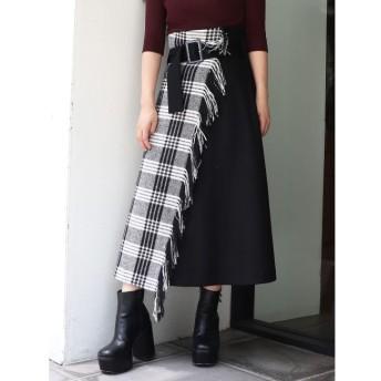 【ムルーア/MURUA】 ストールフレアスカート