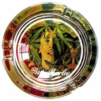 灰皿Bob Marley Abstract Marijuana Weed Round Glass Ashtray