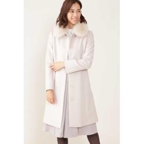 NATURAL BEAUTY ◆カシミア混フォックスファー襟ステンカラーコート その他 コート,ピンクベージュ1