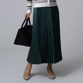 UNTITLED(アンタイトル)/スウェード調サテン素材プリーツスカート