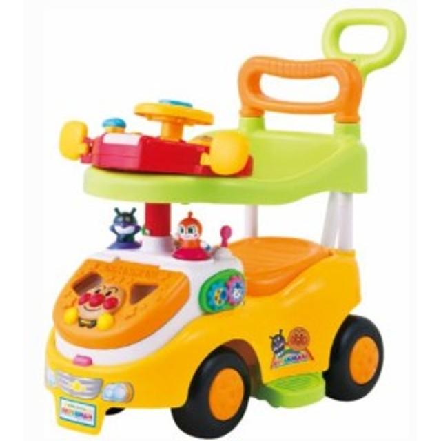 アンパンマン よくばりビジーカーDXFUN(デラックスファン) 押し棒+ガード付き おもちゃ こども 子供 知育 勉強