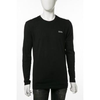 ディーゼル DIESEL Tシャツアンダーウェア ロングTシャツ ロンT 長袖 丸首 UMLT-JUSTIN T-SHIRT メンズ 00CP7C 0CALD ブラック