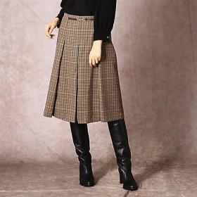 <COMME CA/コムサ> ブリティッシュチェック ボックスプリーツスカート(0109FN04) 01 【三越・伊勢丹/公式】