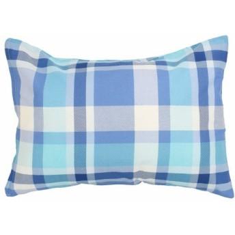 メリーナイト ピローケース サックス 枕カバー/43×63cm イージーケア 枕カバー 「チェック」 FF16101-76