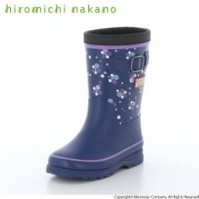 ヒロミチナカノ 子供靴 キッズレインブーツ HN WC171R ネイビー 雨や雪の日でもおしゃれに!「ヒロミチナカノ」ラバーブーツ