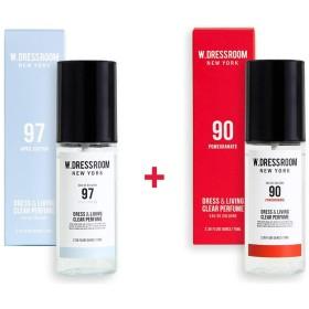 W.DRESSROOM Dress & Living Clear Perfume 70ml (No 97 April Cotton)+(No 90 Pomegranate)