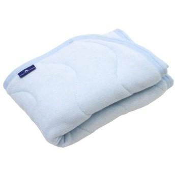 抗菌防臭 SEK加工 綿シンカーパイル 枕パッド 43×63cm ブルー 2434BL