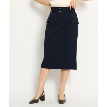 AG by aquagirl(エージー バイ アクアガール) 【WEB限定プライス/洗える/Lサイズあり】フラップポケット付リネン風タイトスカート