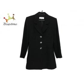 イヴサンローラン YvesSaintLaurent コート サイズ36 S レディース 黒 肩パッド/春・秋物 新着 20190914