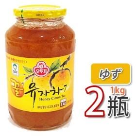 (08031)【冬に大人気商品】【三和】蜂蜜ゆず茶 1kg X 2個 ビタミンCがレモンの3倍!美味しく風邪予防!オットギ 韓国お茶 健康茶 韓国飲料 韓国ドリンク