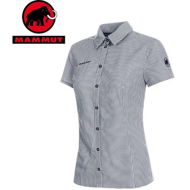 MAMMUT マムート Aada Shirt Women レディース 半袖 シャツ 2019 SS (brightwhite-peacoat):1015-00021