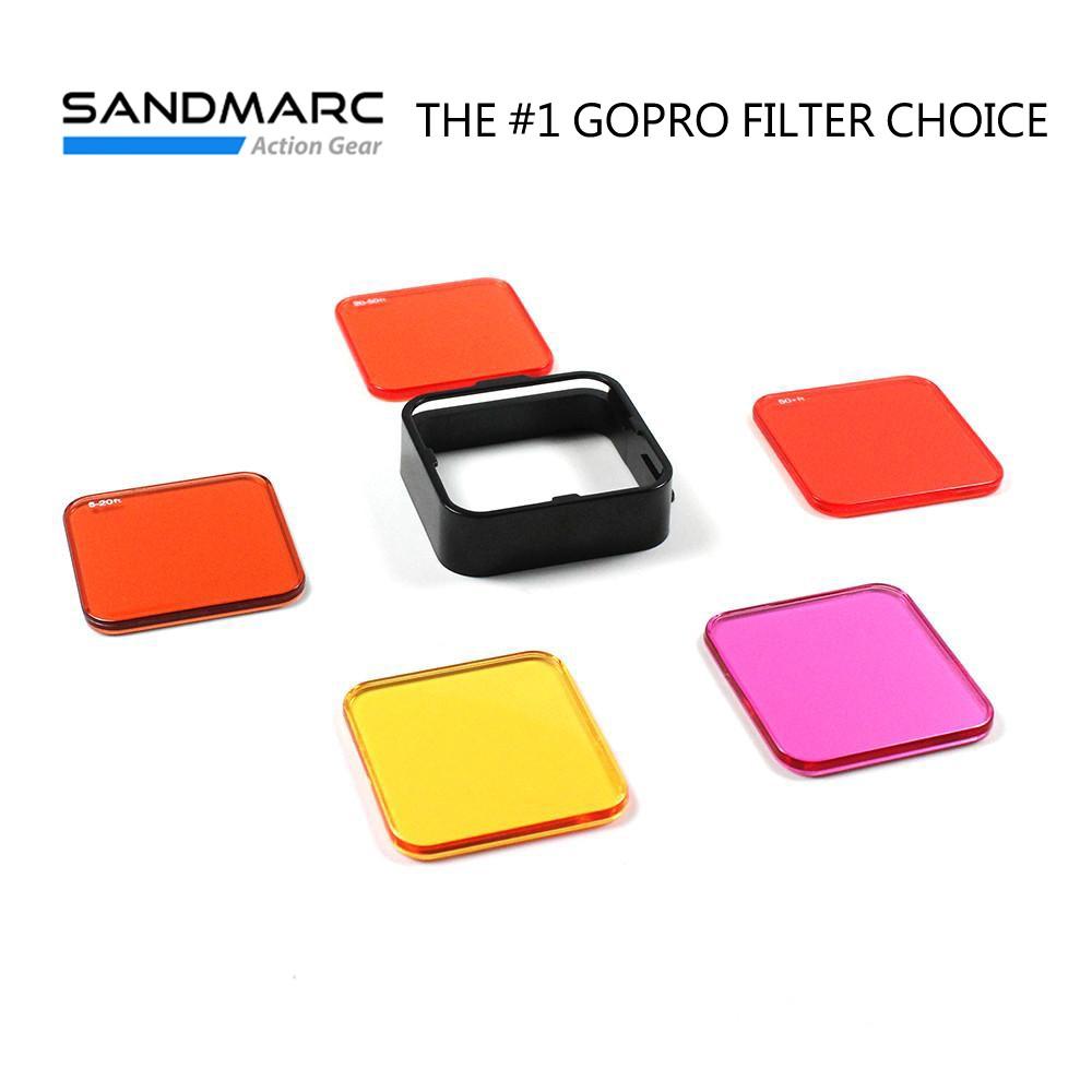 SANDMARC GoPro(Hero 4/3+/Hero+LCD) 水中偏光濾鏡套組 5片裝