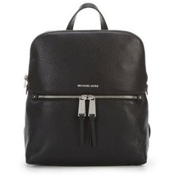マイケルコース バックパック Michael Michael Kors 30H6GEZB2L Rhea Medium Slim Backpack リア ミディアム スリム バックパック/リュック (ブラック/シルバー)