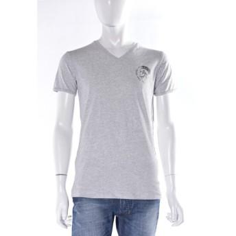 ディーゼル DIESEL Tシャツ アンダーウェア 半袖 Vネック メンズ 00CG26 0GALQ グレー DSL大量入荷