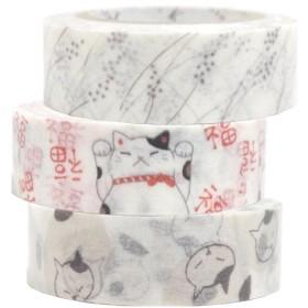 シール堂 マスキングテープ Shinzi Katoh いろは和紙テープ 3巻セットK