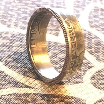 アメリカ硬貨25セント コインリング